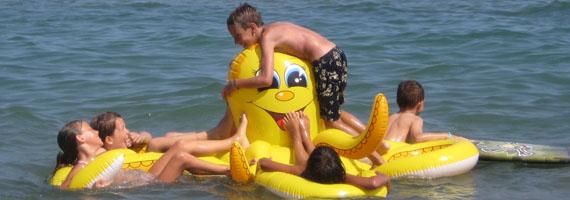 Giochi in mare...